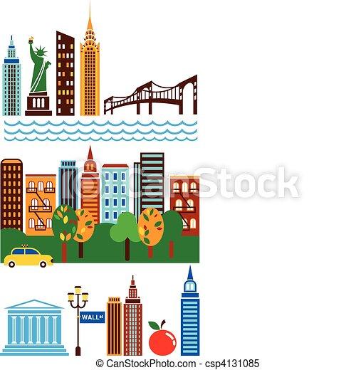 New York skyline - csp4131085