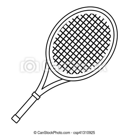 Illustration vecteur de raquette ic ne style tennis - Dessin raquette ...