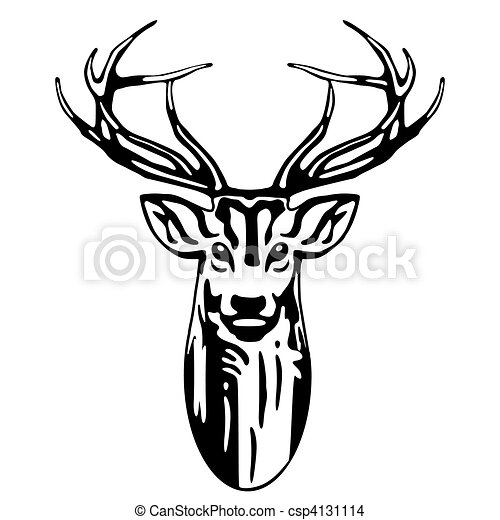 Predator Lion Head Tattoos 19151178 as well Hirsch further Wildlife besides Search Vectors in addition Clipart 67950. on clip art deer head black and white