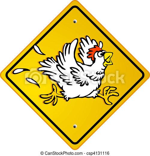 Illustration de poulet course csp4131116 recherchez des - Dessin de poulet ...