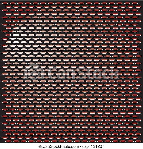 Metal Grill oval rust vector - csp4131207