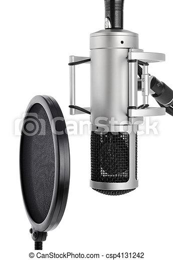 Studio microphone with pop filter - csp4131242