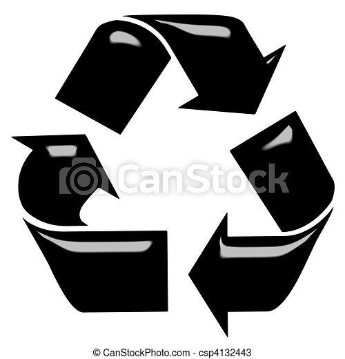 3D Recycling Symbol  - csp4132443