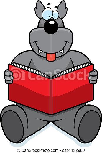 Wolf Reading - csp4132960