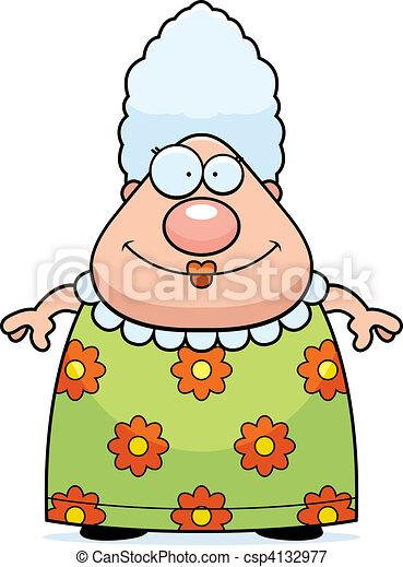 Grandma Smiling - csp4132977