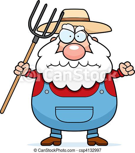 Angry Farmer - csp4132997