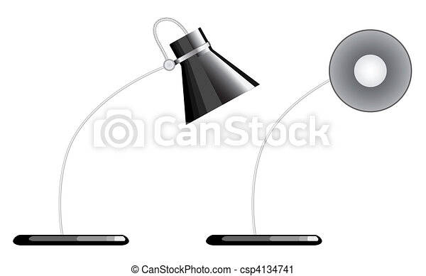 Vector Clip Art of desk lamp isolated desk lamp one is facing – Desk Lamp Logo