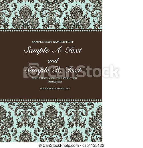 Vector Border and Damask Frame - csp4135122