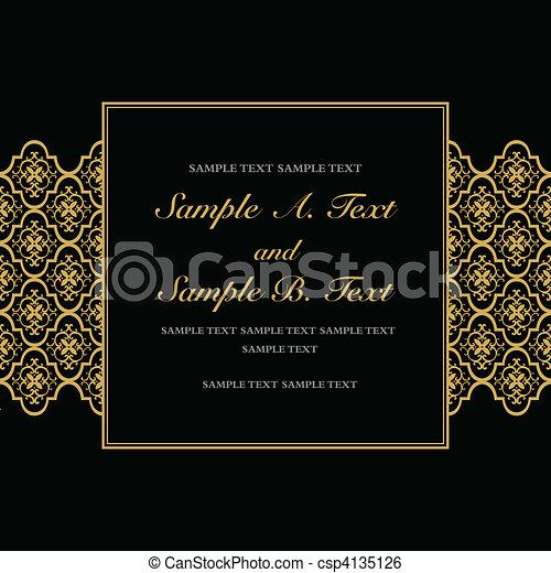 Vector Gold Formal Frame - csp4135126