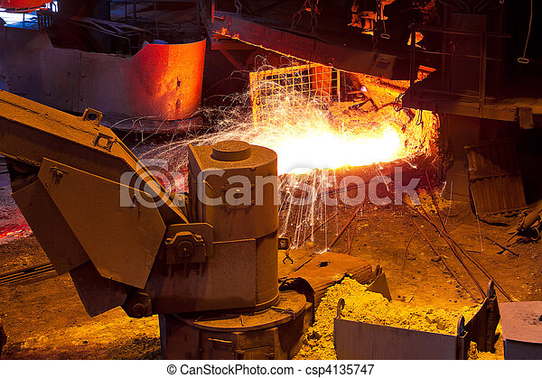 Liquid metal from blast furnace - csp4135747