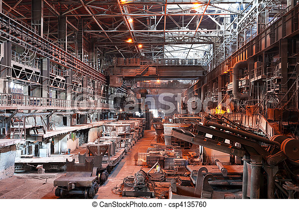 Metallurgical plant workshop - csp4135760