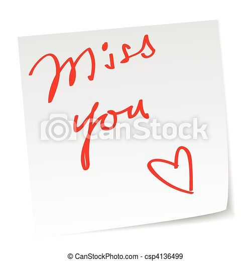 miss you - csp4136499