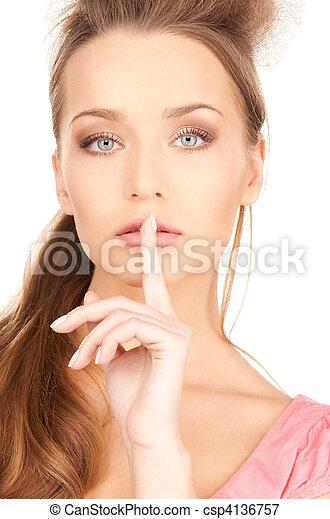 finger on lips