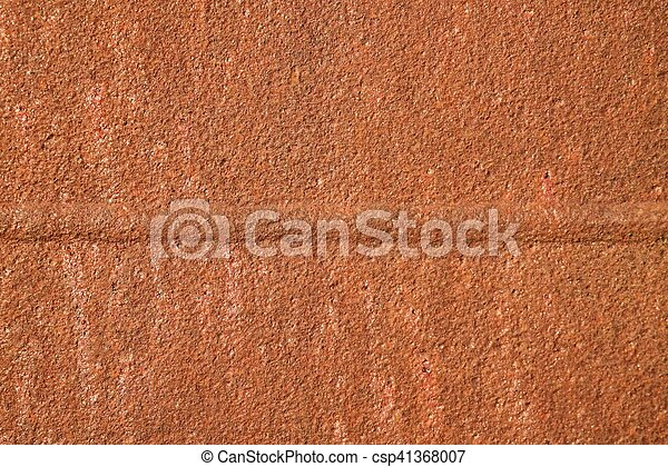 Metal red corrosion. Orange gentle structure of oxidation on welded seam.