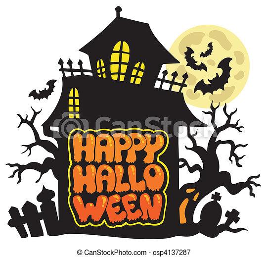 Happy Halloween theme 2 - csp4137287