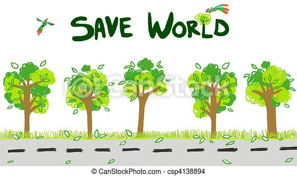 Save The World Images Save World Illustration Save