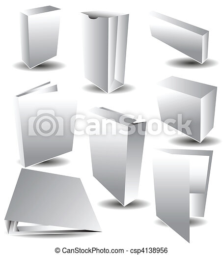 White Blank Packaging - csp4138956