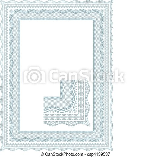 Classic guilloche border for diplom - csp4139537