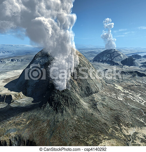 Volcanic eruptions - csp4140292