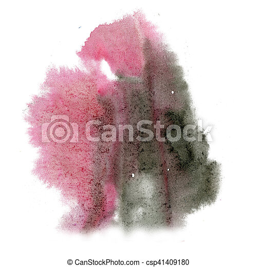 paint black pink splash color ink watercolor isolated stroke splatter watercolour aquarel brush art