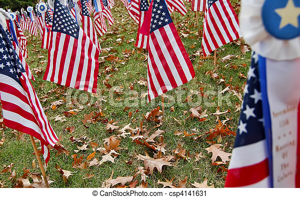 veterans day flags - csp4141631