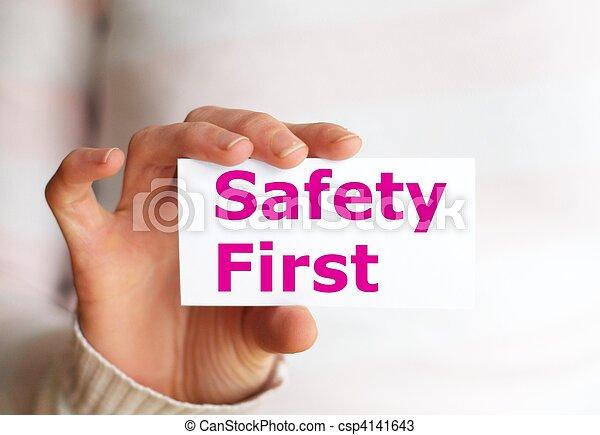 säkerhet, första - csp4141643