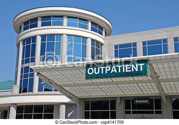 Hospital Outpatient Entrance Sign - csp4141709