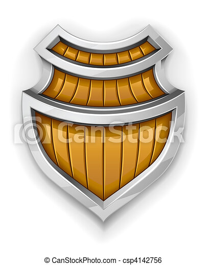 steel shield as symbol of safety and protection - csp4142756