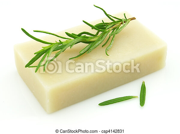 Soap with rosemary - csp4142831