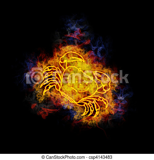 drawings of fiery cancer zodiac sign cancer zodiac sign covered in csp4143483 search. Black Bedroom Furniture Sets. Home Design Ideas
