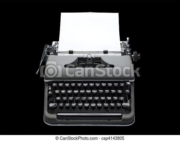 Antique portable typewriter - csp4143805