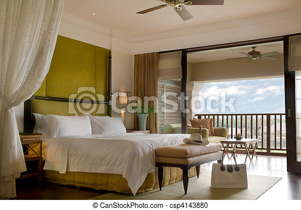 Suite bed room with balcony  - csp4143880