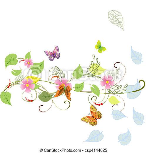Vegetation pattern of summer - csp4144025
