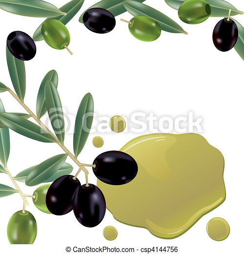 Realistic olive oil background - csp4144756