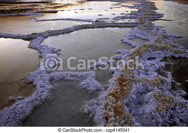 Dead sea salt and water - csp4145041