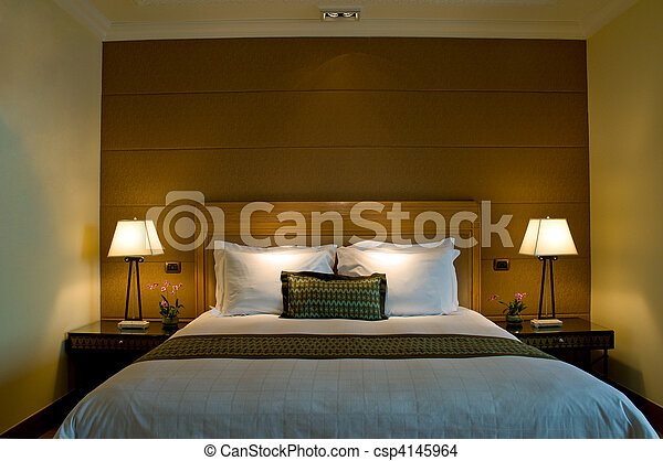 Stock photo of bedroom of a elegant 5 star hotel bedroom for 5 star bedroom designs