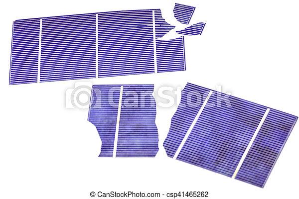 Broken Solar Cells - csp41465262