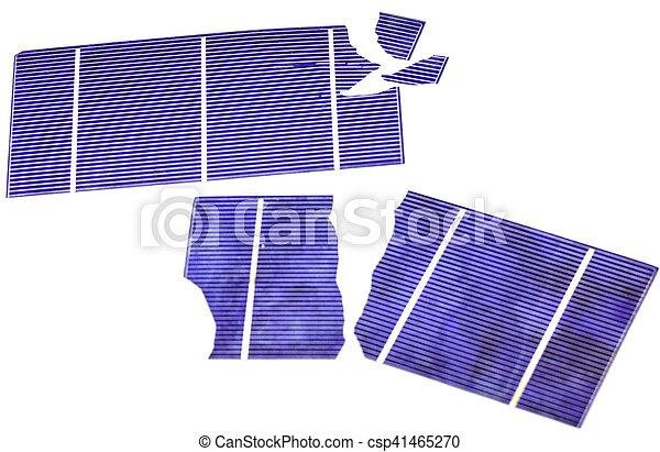 Broken Solar Cells - csp41465270