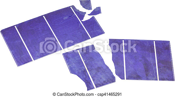 Broken Solar Cells - csp41465291