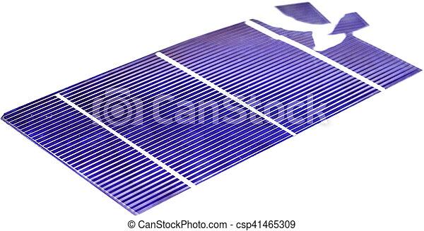 Broken Solar Cell - csp41465309