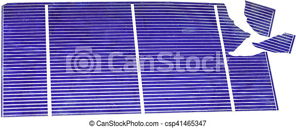 Broken Solar Cell - csp41465347