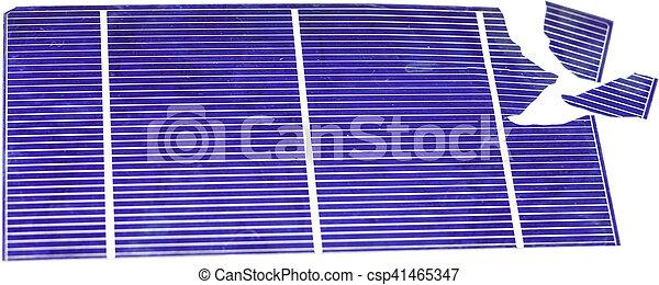 Broken Solar Cell - csp41465347