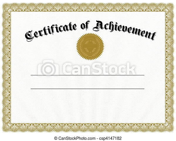 Vector Gold Certificate and Seal - csp4147182