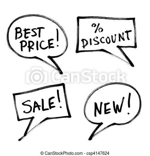 Set of popular slogans, increase sales. - csp4147624