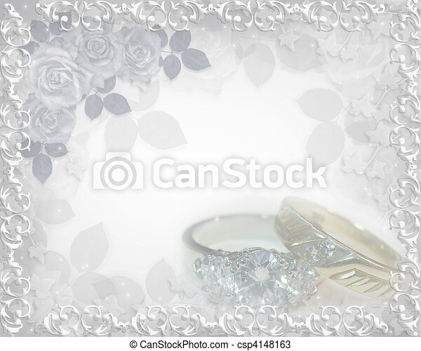 Stock Illustration Wedding invitation soft touch rings