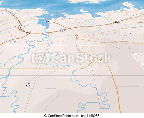 Angled map - csp4148255