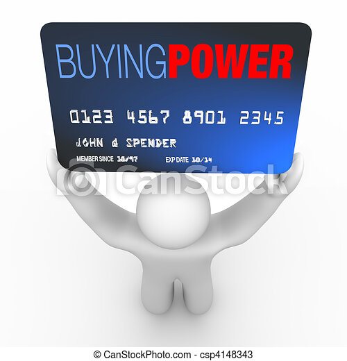 Buying Power - Person Holding Credit Card - csp4148343