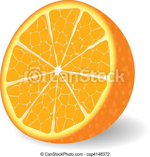 Vector orange fruit - csp4148372
