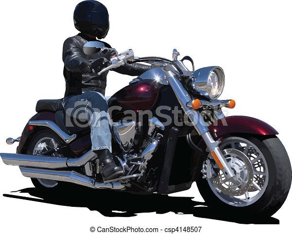 Biker. Vector illustration - csp4148507