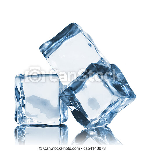 ice cubes isolated on white - csp4148873